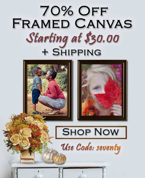 Save 70% on Print Shop Canvas Products