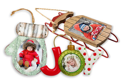 Order beautiful custom photo ornaments with your own picture