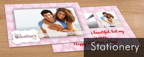 Design your own double sided card stock cards with your favorite photo and text for any occasion.