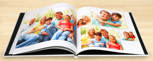 Design your own custom photo book and create your own glossy hard cover.