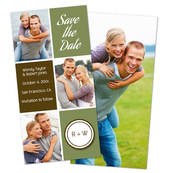 Print Shop Holiday Cards with double sided print options to share more photos