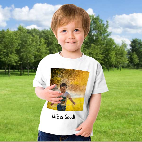 Add your photo to a t-shirt and create your own custom clothing to wear and share