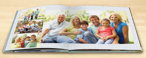 Beautiful lay flat photo books will full spread lay flat pages and a custom matte photo cover