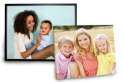 Create canvas prints and print your pictures on framed canvas and photo collage canvas at the Print Shop