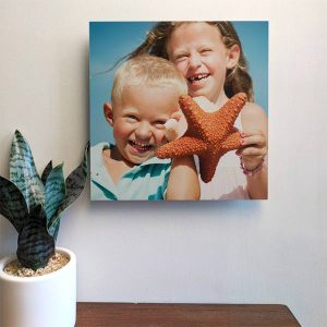 8x8 photo tiles easily hang on your walls and allow you to fill your space