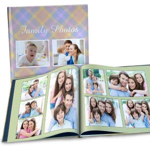 Create a large 12x12 photo book for your photos, perfect for an anniversary album