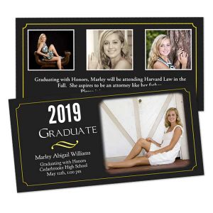Design your own graduation cards with Print Shop Stationery invitations