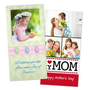 Create classic glossy photo cards for any occasion or holiday with Print Shop