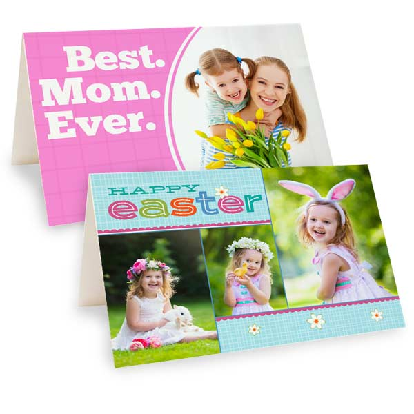 Create a beautiful custom photo card for Mothers Day and Easter