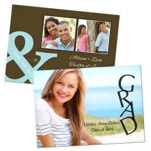 Any occasion 5x7 personalized greeting cards with a glossy finish