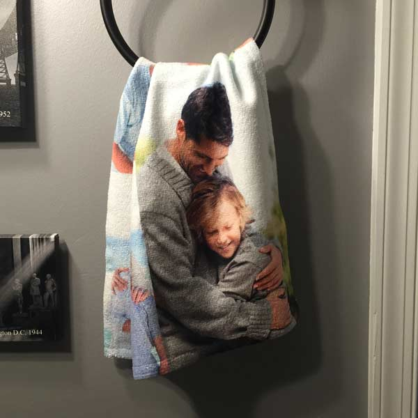Create a photo collage towel to share your photos and brighten a room