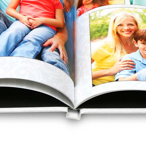Enjoy professionally bound custom hard cover books to showcase your memories in style.
