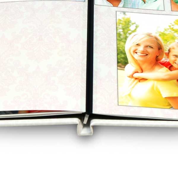 Create a custom lay flat photo book with beautifully printed pages