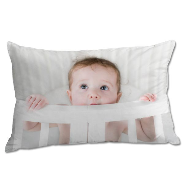 Print your photo on a pillowcase, create a custom pillowcase for your bed