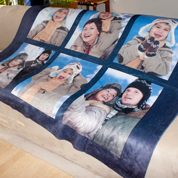 Create your own sherpa fleece photo blanket to help you stay warm inside and out