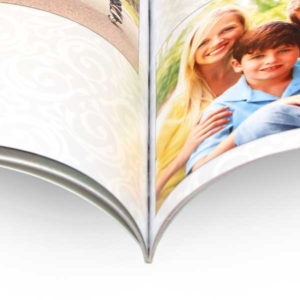 Create a personalized 5x7 soft cover photo book with a thin form factor to save space on your shelf