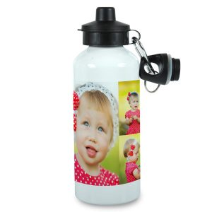 Design your own water bottle using your photos, text and designer backgrounds