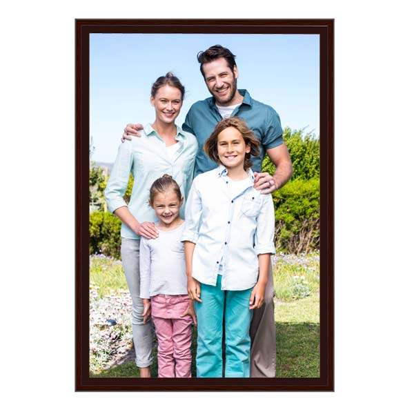 Turn your favorite family portrait into a framed canvas work of art with exposed gallery wrapped edges