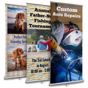 Create a retractable stand up banner for your small business or event
