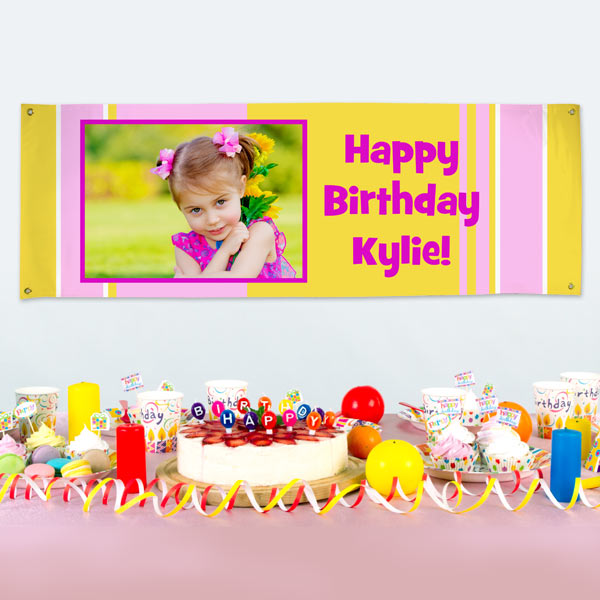 Create your own banner for birthdays and celebrations with vinyl banners from Print shop