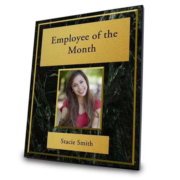 Customize your own award plaque with photos, text and background art of choice