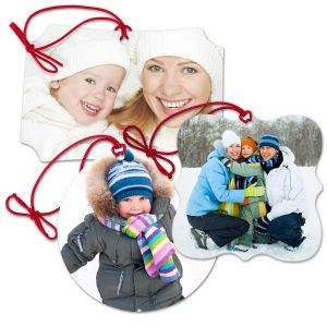 Choose from 4 different classic style and have your photo printed on our double sided canvas ornaments