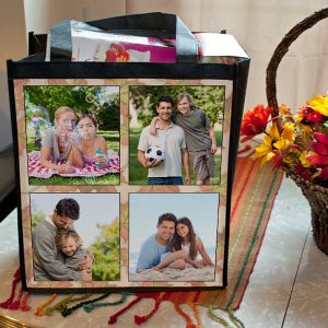 Create your own photo collage grocery bag, perfect for your weekly shopping