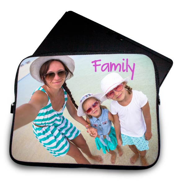 Turn your family selfie into a moment to remember with a custom laptop sleeve