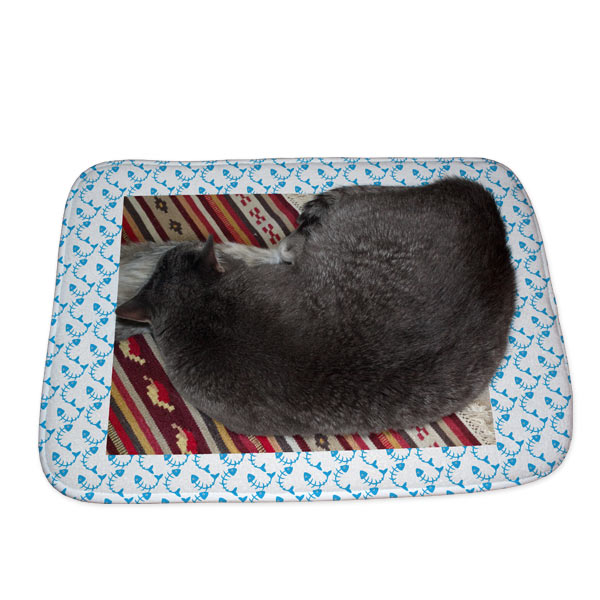 Each floor mat is so soft your pets may enjoy curling up and sleeping on your custom decor piece.