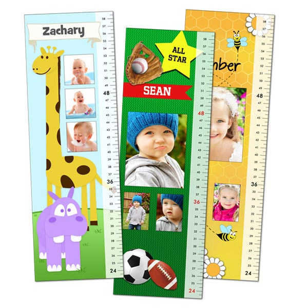 Select from multiple templates and create a growth chart that features their name and photo.