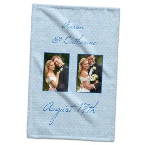 Create your own set of hand towels for him and her with Print Shop hand towels