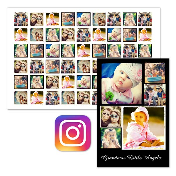 Showcase up to 77 of your favorite Instagram moments with our custom printed Instagram posters!