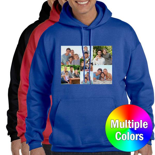 Create your own custom printed Hooded sweatshirt or hoodie to keep you warm