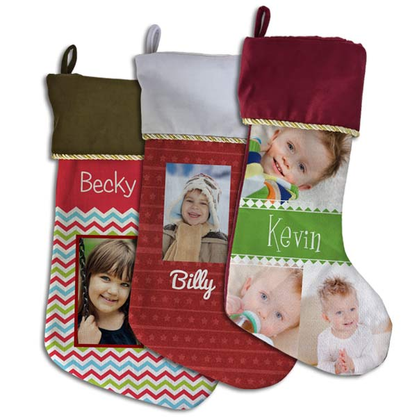 Add a photo and name to help you create a custom stocking for you and members of your family