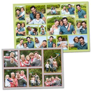 Create a photo collage full of photos of your family and friends