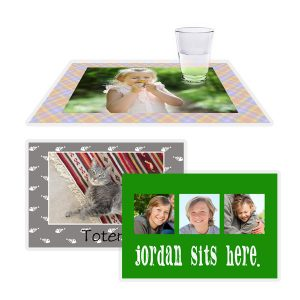 Perfect for keeping your table clean and marking their spot, a laminated place mat is a great way to make dinner time fun