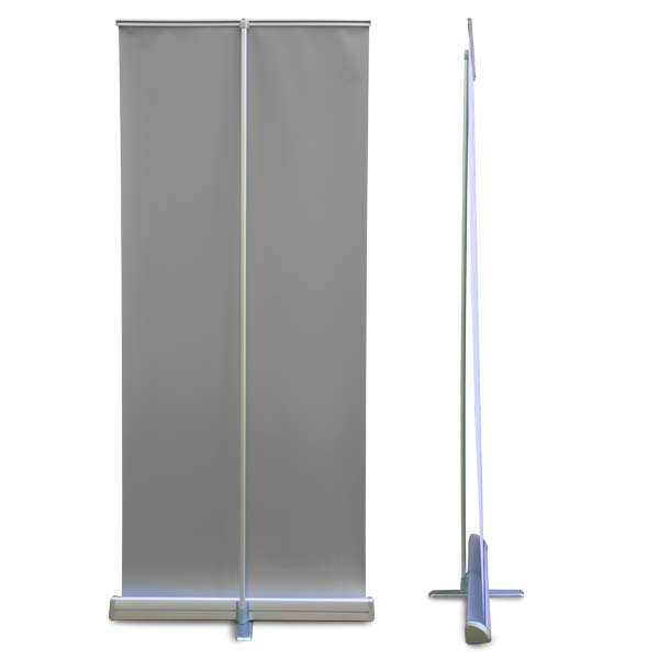 Tall roll up banner is easy to break down and take with you