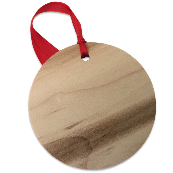 Each wooden photo ornament is a unique as the natural wood each photo is printed on