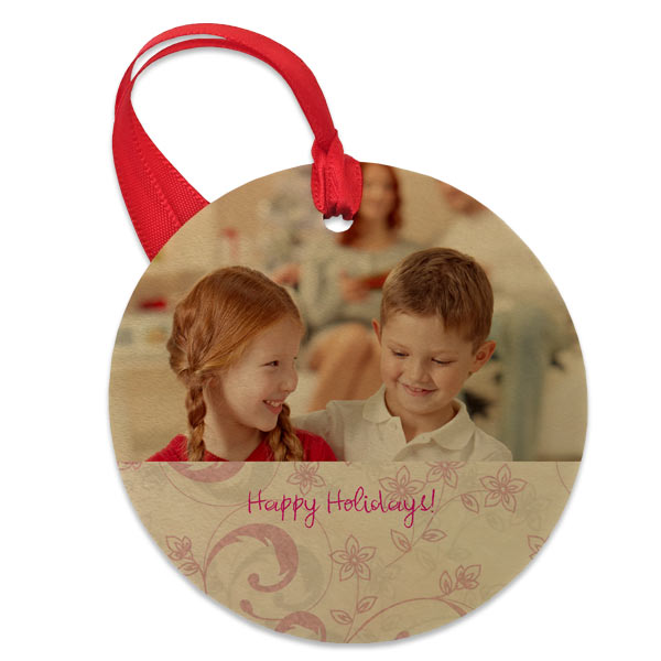 Create a beautiful photo ornament printed on real natural wood