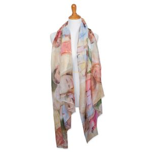 Create a beautiful photo collage sheer scarf for your mom or girl friend