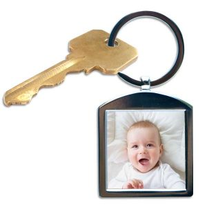 Keep your treasured memories close each day with our silver framed photo keychain.