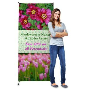Create a stand up banner for your business and advertise your offers