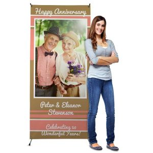 Create a stand up banner for your business or event, great for birthdays and weddings.