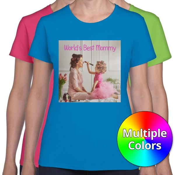 Create a custom t-shirt for mom with womens t-shirts from the Print Shop
