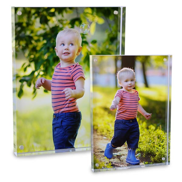 Turn your photo into an acrylic block print, available as 5x7 or 8x10 acrylic with aluminum color photo on the back