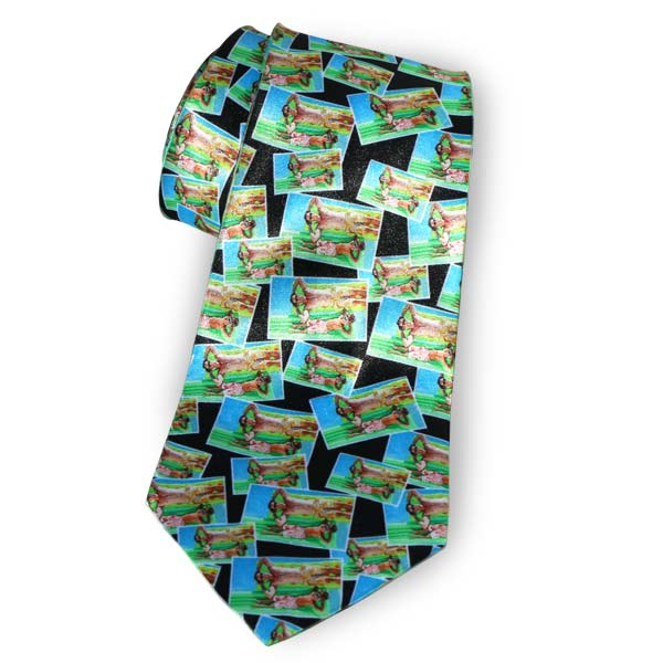 Create a custom photo necktie with your own photo tiled across the tie