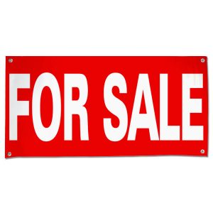 Announce your sale so all can see with a bright red For Sale Banner size 4x2