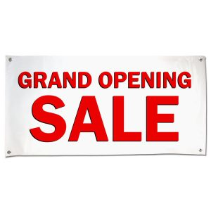 Grand Opening Sale banner for your small business, Large Red Sale Text size 4x2