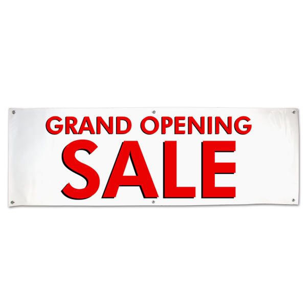 Grand Opening Sale banner for your small business, Large Red Sale Text size 6x2