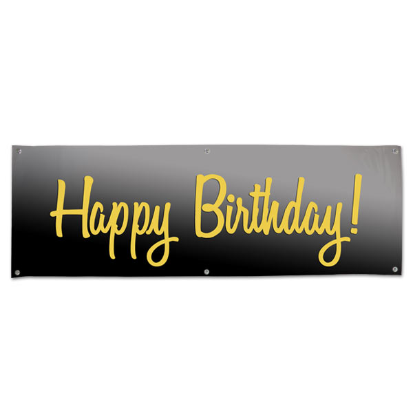 Happy Birthday Vinyl Party Banner Print Shop